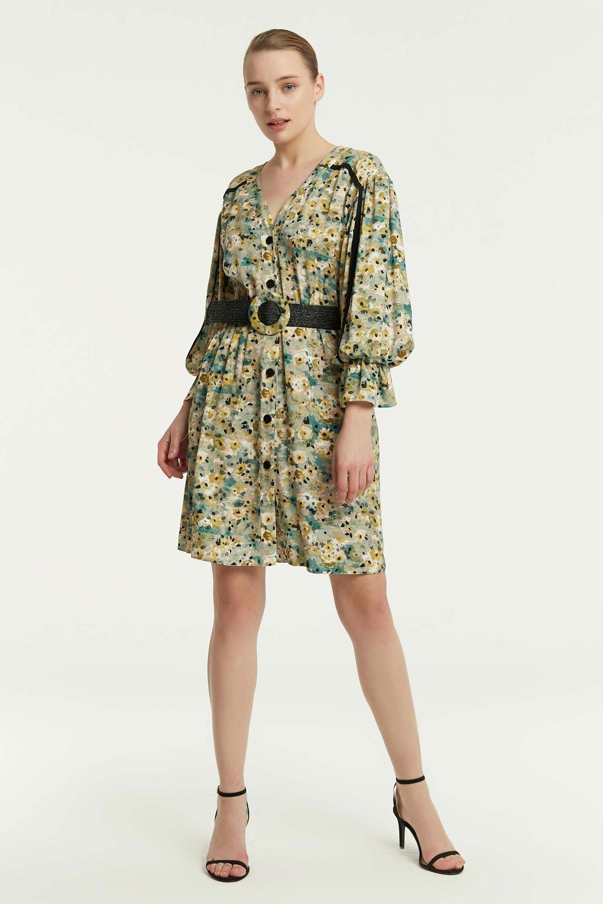 Grogren Geçişli Elbise Multi