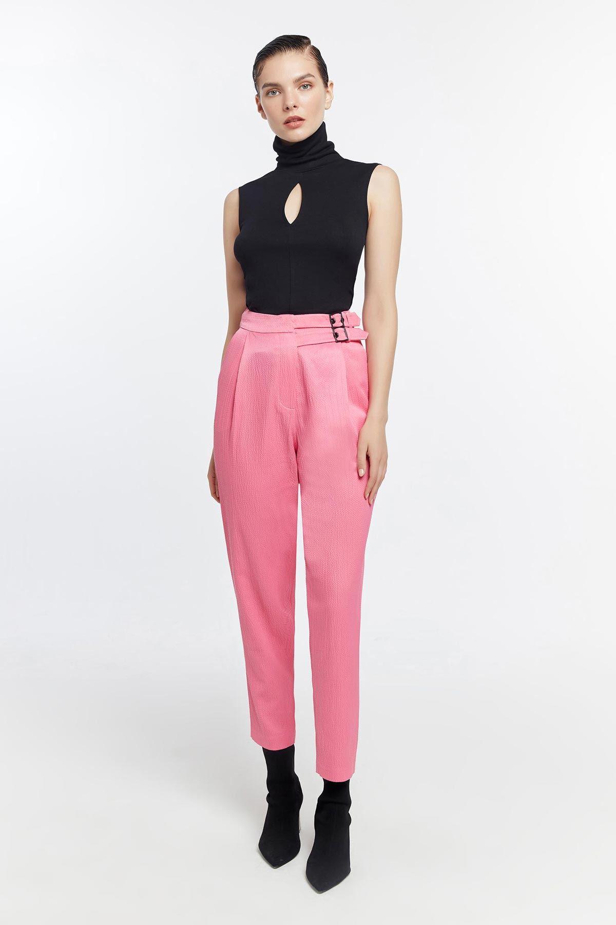 Crop örme bluz Siyah