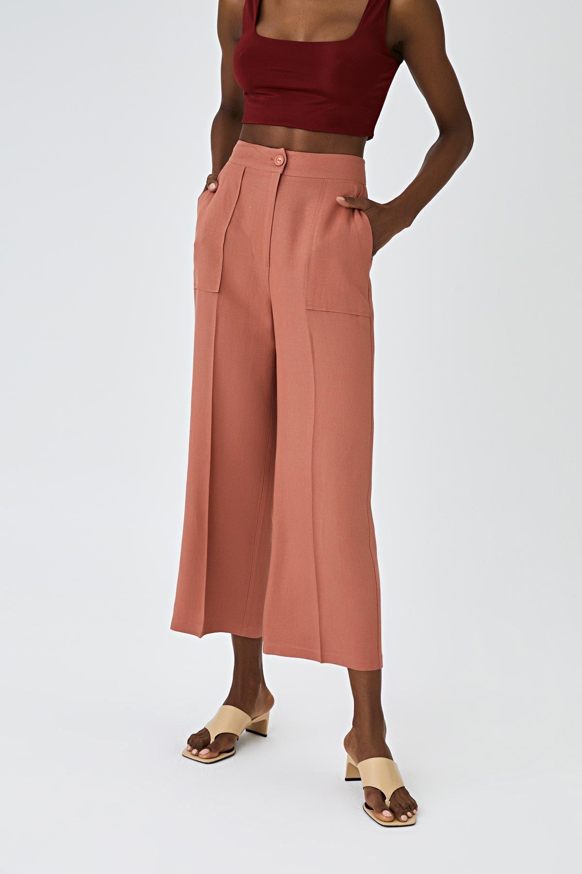 Cepli culotte keten pantolon Somon