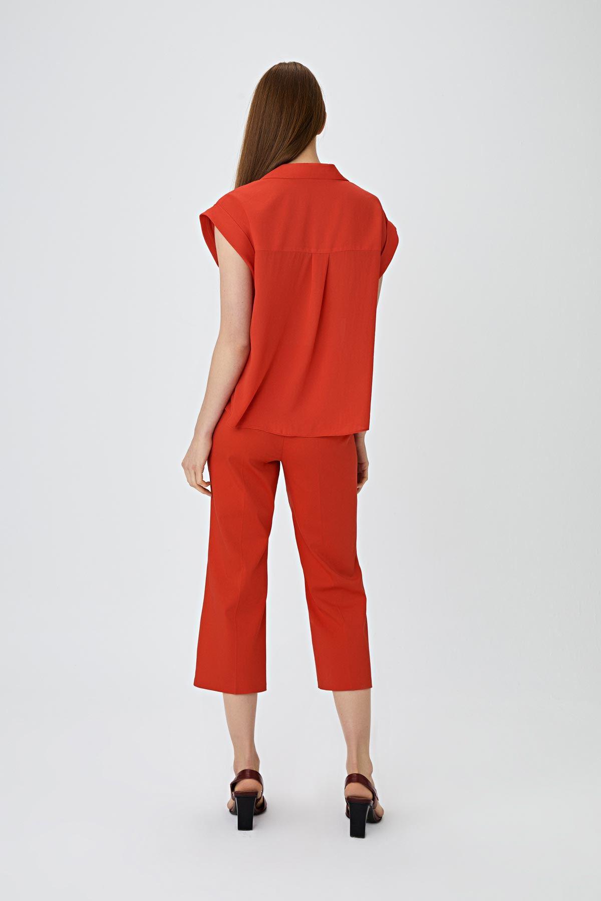 Cepli gömlek Kırmızı