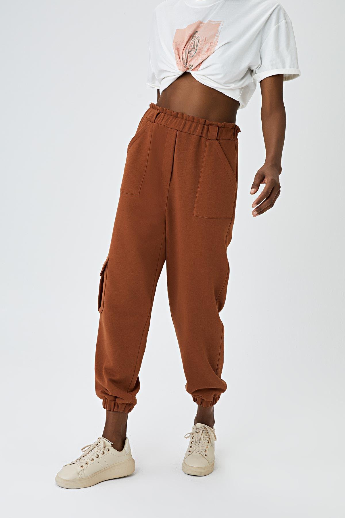 Cepli jogging pantolon Taba