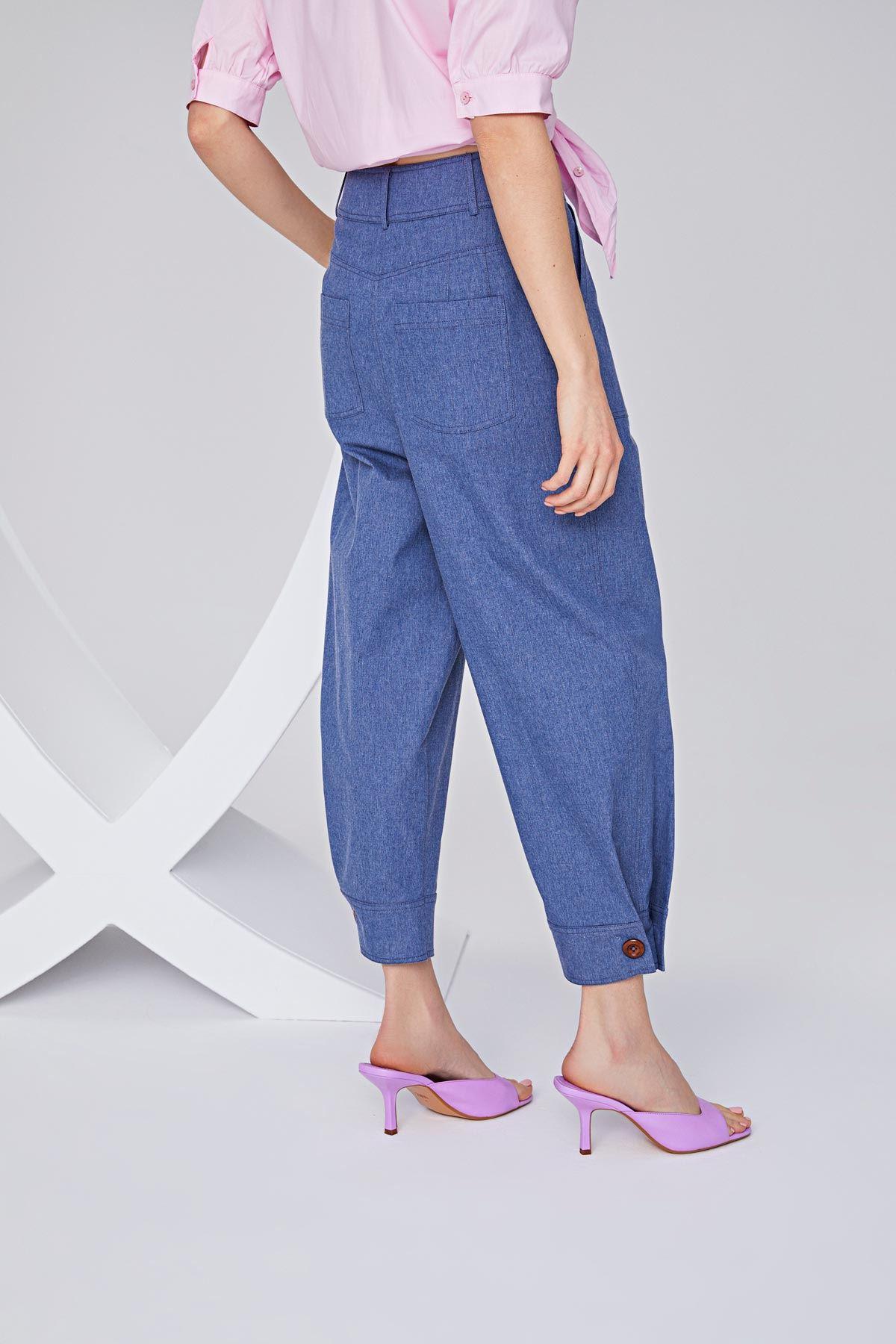 Pilili culotte pantolon Mavi