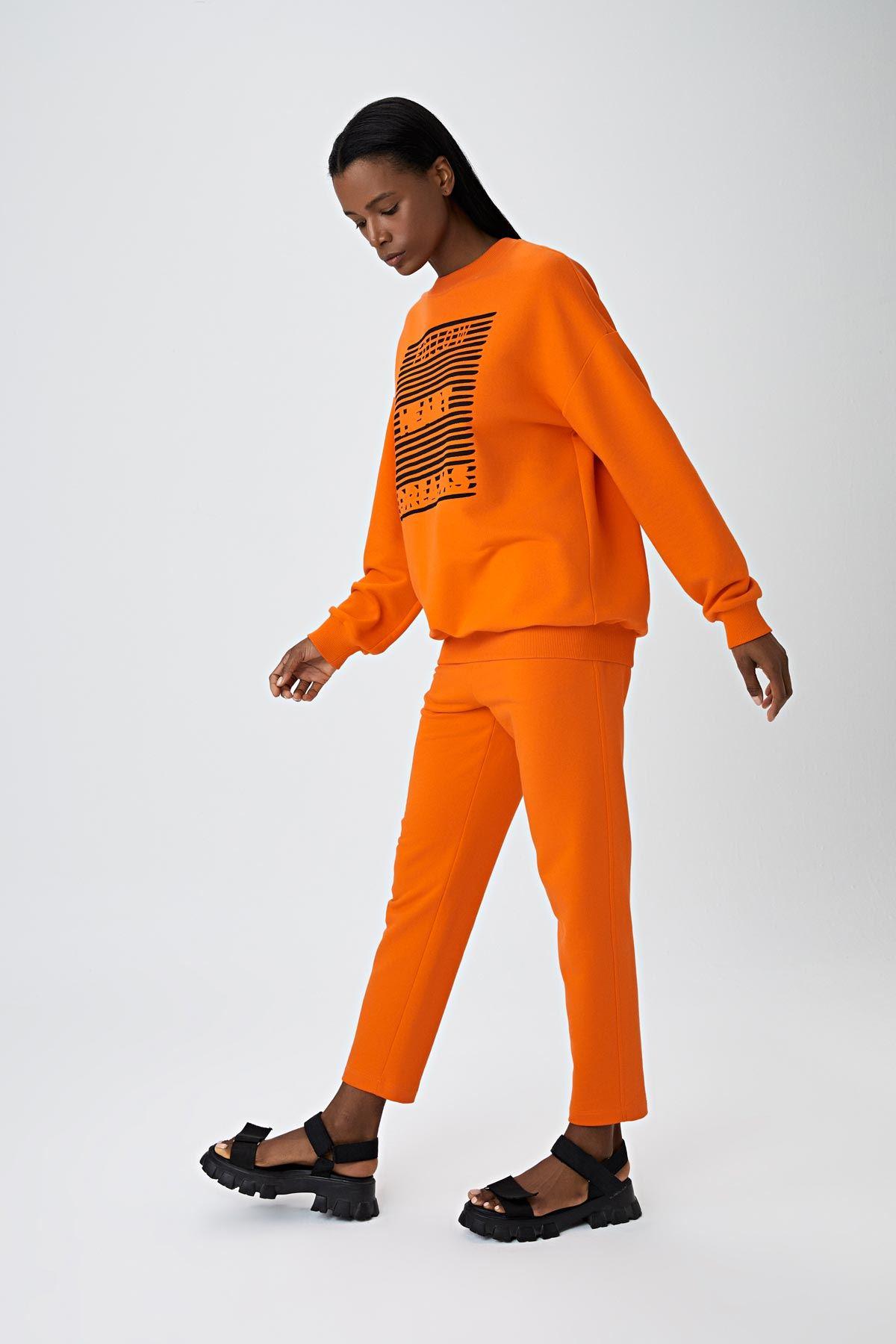 Yan cepli jogging pantolon Oranj