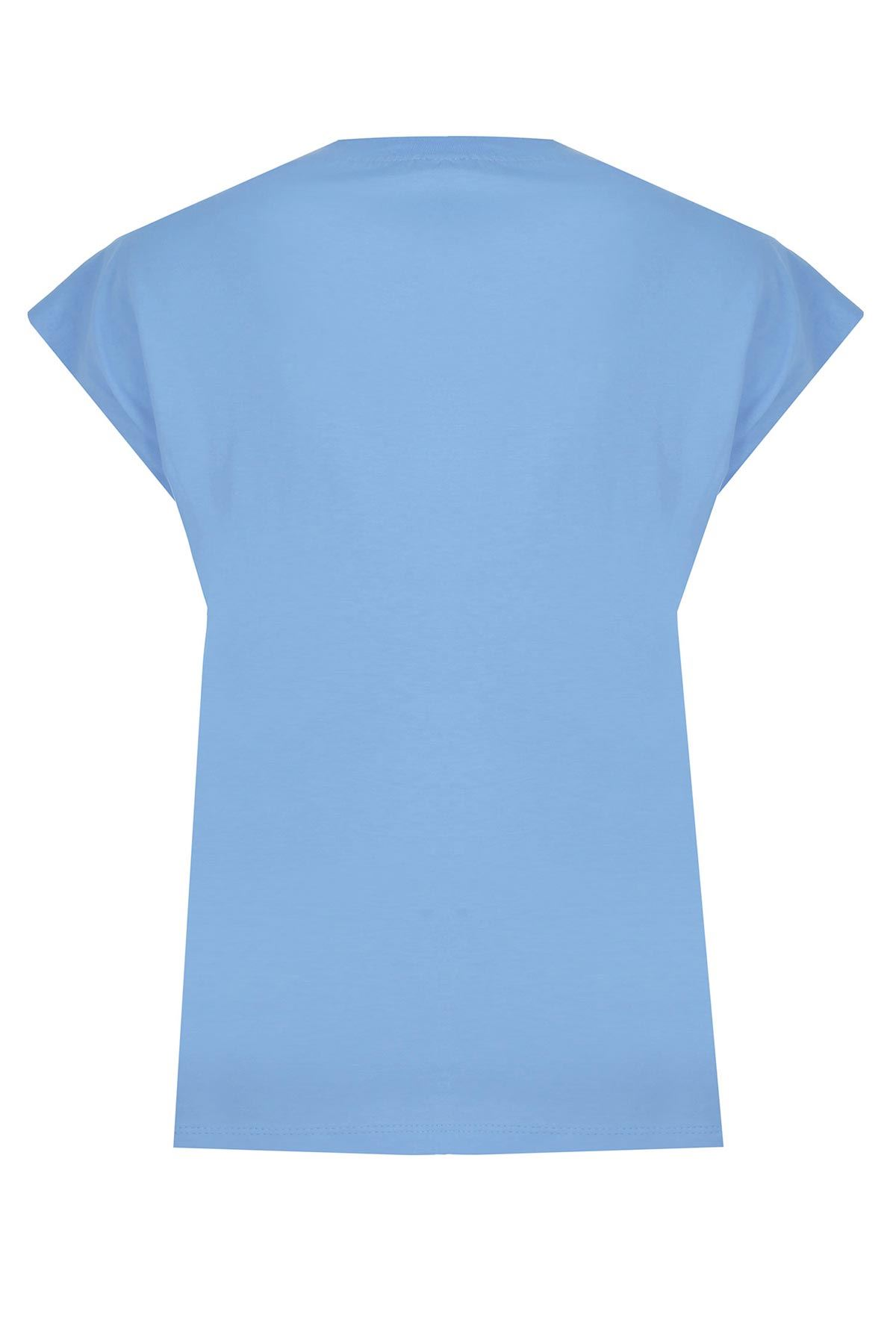 Kaplan desenli t-shirt Mavi