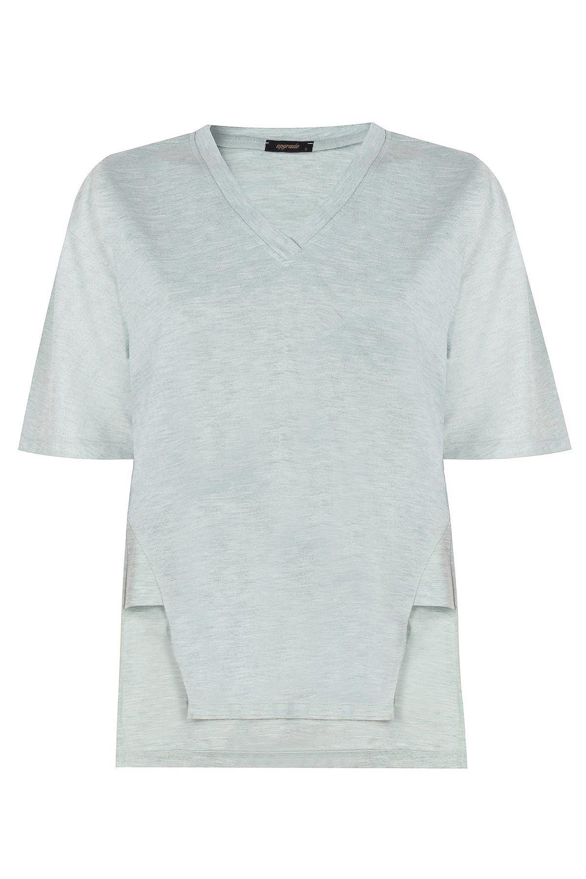 V yaka basic t-shirt Mint