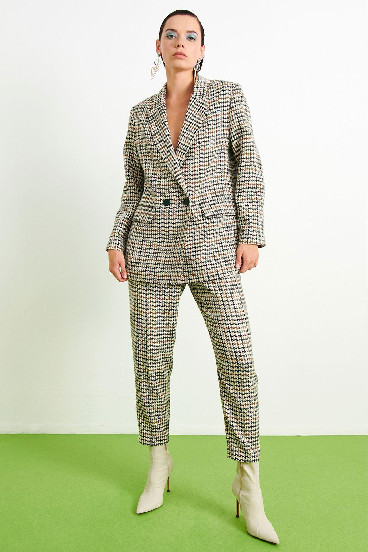 Kazayağı Blazer Ceket Multi
