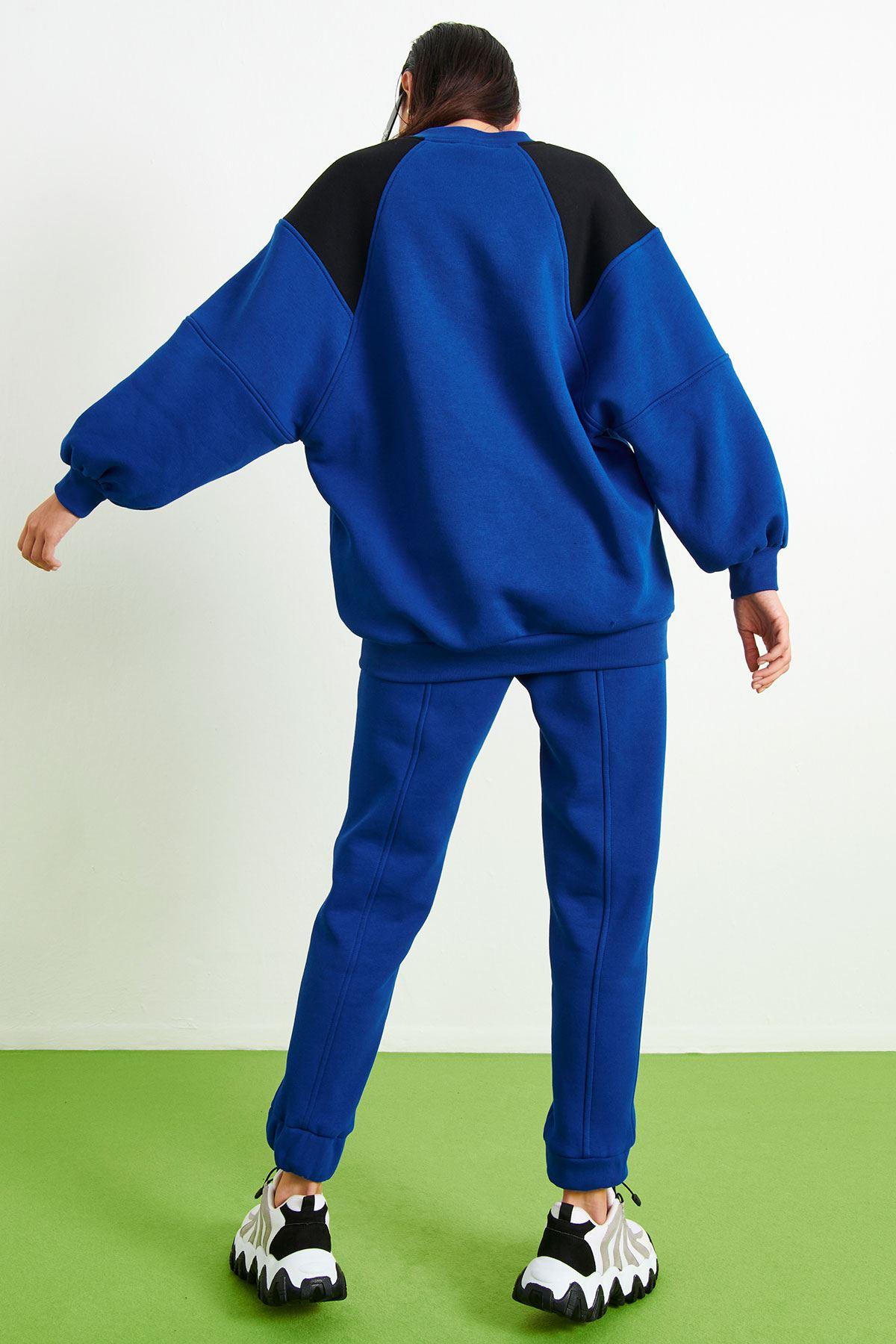 Kalp Baskılı Sweatshirt Saks