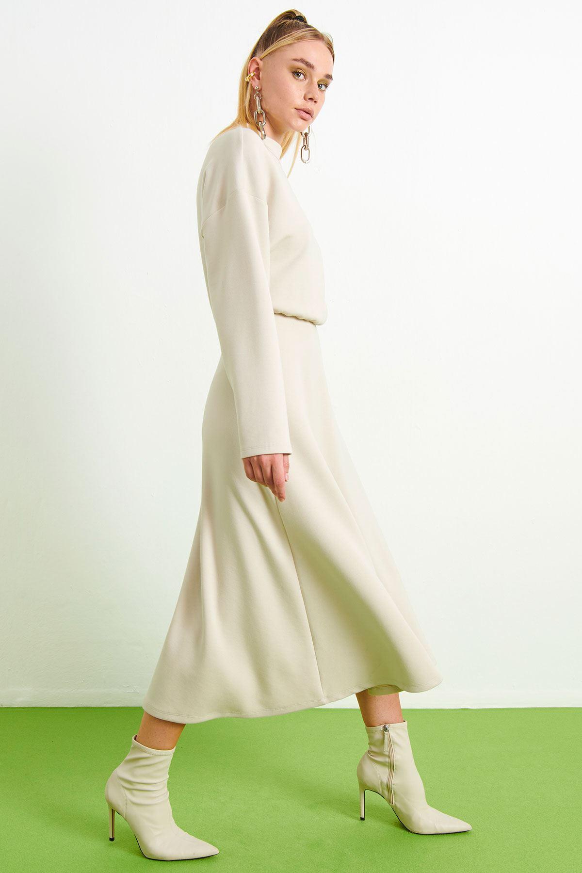 Örme Elbise Bej