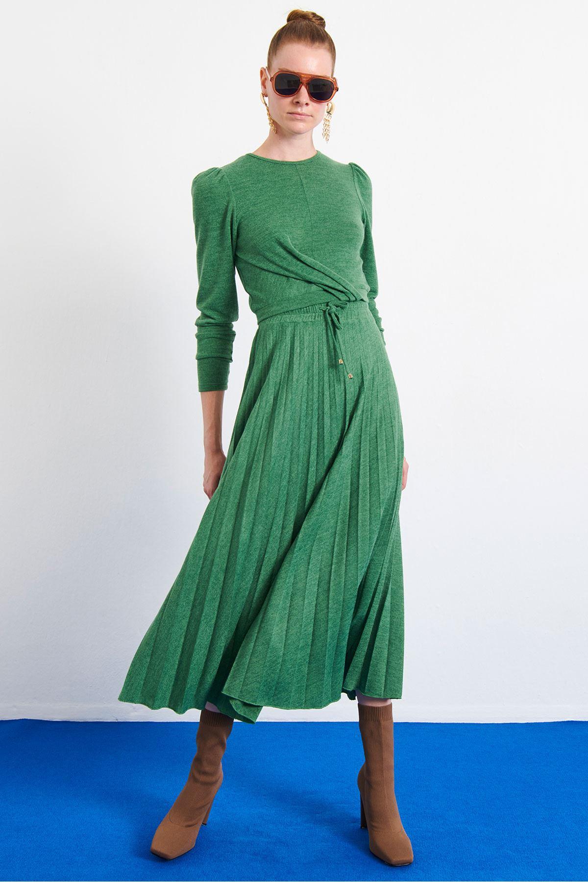 Örme Bluz Yeşil