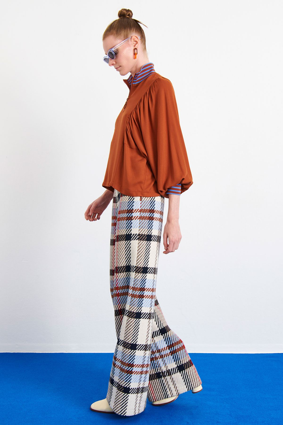 Ribana Detaylı Bluz Kiremit
