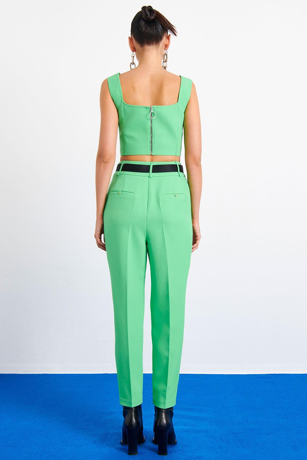 Neon Klasik Pantolon Fıstık Yeşili