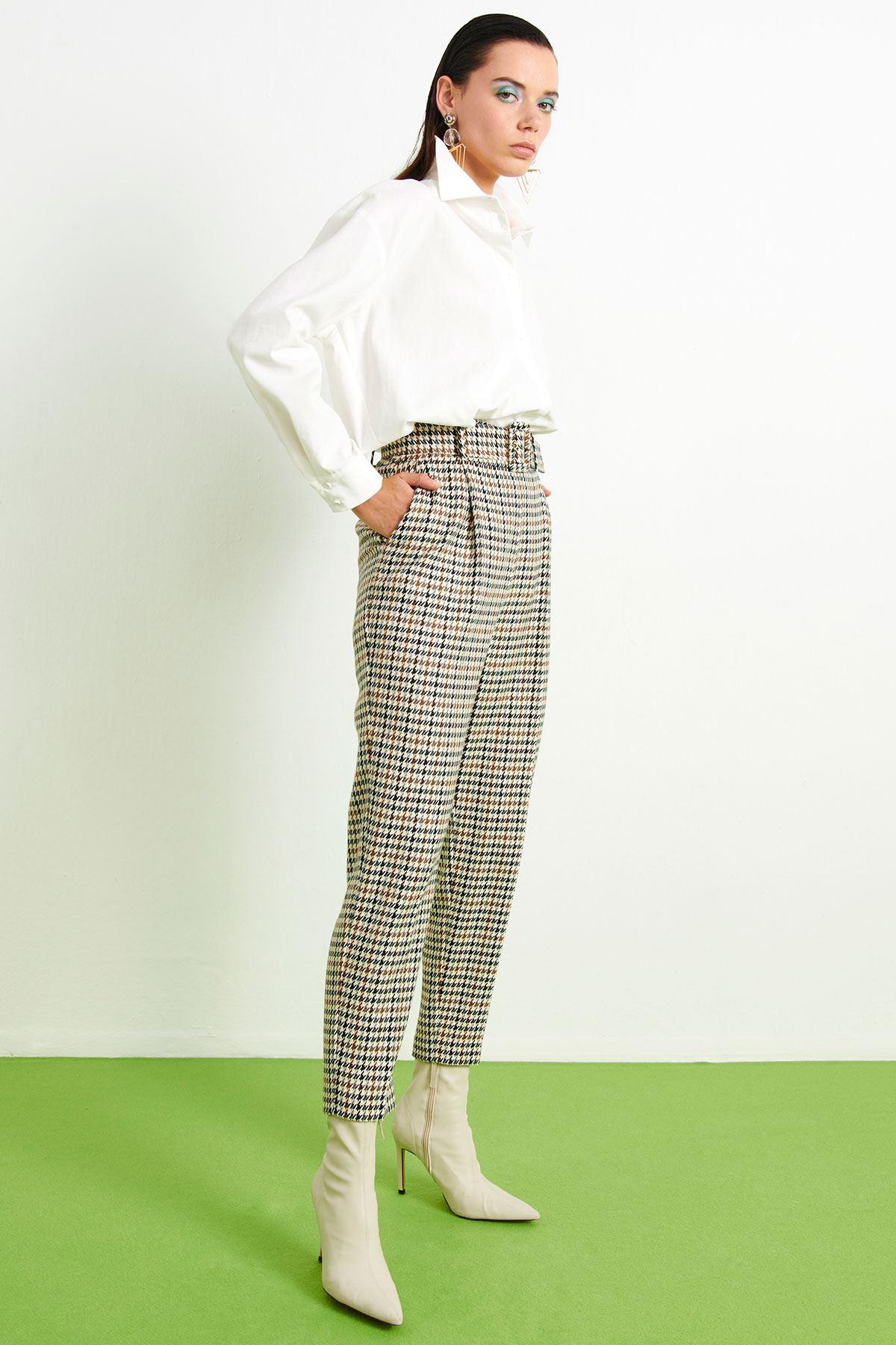 Kazayağı Havuç Pantolon Multi